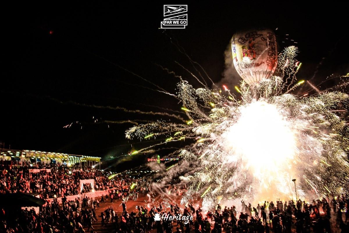 Thả lửa ngợp trời trong lễ hội khinh khí cầu Taunggyi